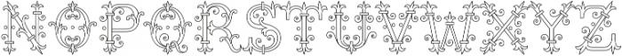 MFC Chaplet Monogram 250 Impressions otf (400) Font UPPERCASE