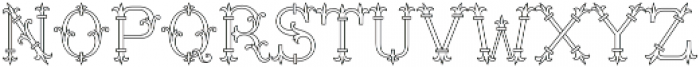 MFC Chaplet Monogram 250 Impressions otf (400) Font LOWERCASE