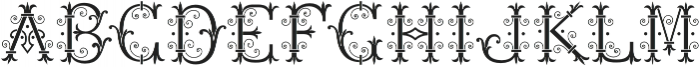 MFC Chaplet Stencil Mngm 250 Impressions otf (400) Font UPPERCASE