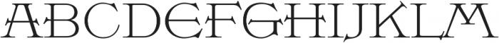 MFC Damask Basic Regular otf (400) Font UPPERCASE