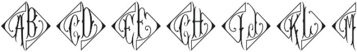 MFC Diamant Monogram Regular otf (400) Font UPPERCASE