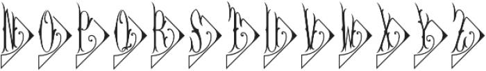 MFC Diamant Monogram Solid Regular otf (400) Font LOWERCASE