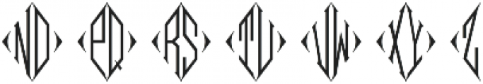 MFC Diamas Monogram otf (400) Font UPPERCASE