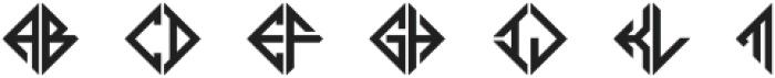 MFC Diamondside Mngm Back otf (400) Font UPPERCASE