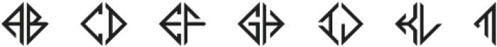 MFC Diamondside Mngm Regular otf (400) Font LOWERCASE