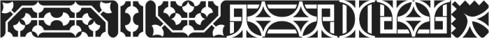 MFC Distinto Borders Regular otf (400) Font LOWERCASE