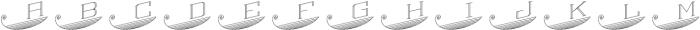 MFC Escutcheon Monogram Regular otf (400) Font LOWERCASE
