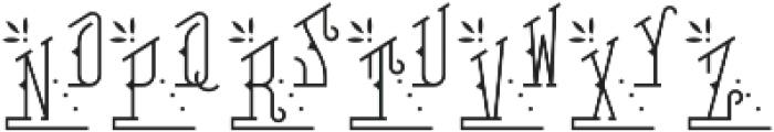 MFC Falconer Monogram Regular otf (400) Font UPPERCASE