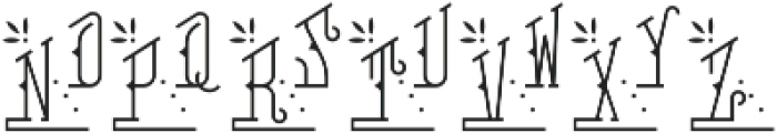 MFC Falconer Monogram Regular otf (400) Font LOWERCASE