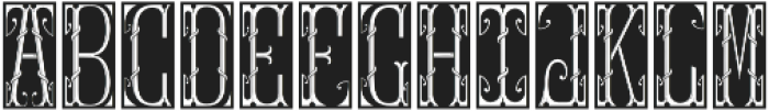 MFC Gilchrist Initials Black otf (900) Font LOWERCASE