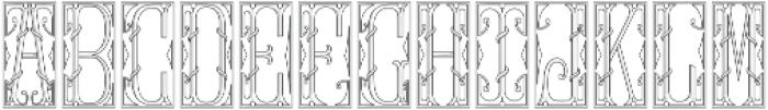 MFC Gilchrist Initials Regular otf (400) Font LOWERCASE