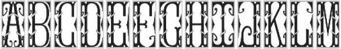 MFC Gilchrist Initials Solid otf (400) Font UPPERCASE