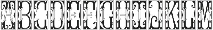 MFC Gilchrist Initials Split otf (400) Font LOWERCASE
