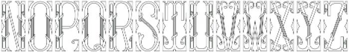 MFC Gilchrist Monogram Regular otf (400) Font UPPERCASE