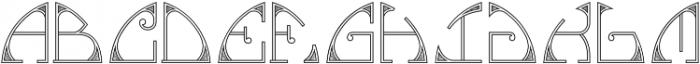 MFC Glencullen Monogram Regular otf (400) Font UPPERCASE