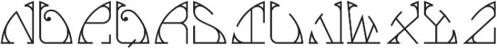 MFC Glencullen Solid Monogram Regular otf (400) Font UPPERCASE