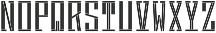 MFC Hardwood Monogram Basic Regular otf (400) Font LOWERCASE