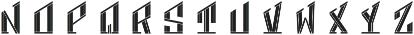MFC Hardwood Monogram Cameo Bold otf (700) Font LOWERCASE