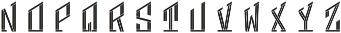 MFC Hardwood Monogram Cameo Regular otf (400) Font LOWERCASE