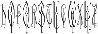 MFC Haute Monde Monogram Regular otf (400) Font UPPERCASE