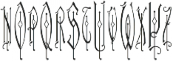 MFC Haute Monde Monogram Regular otf (400) Font LOWERCASE
