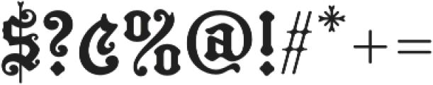 MFC Hills Medieval Regular otf (400) Font OTHER CHARS