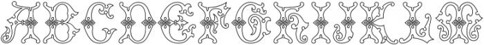 MFC Imperator Monogram otf (400) Font UPPERCASE