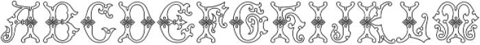 MFC Imperator Monogram otf (400) Font LOWERCASE