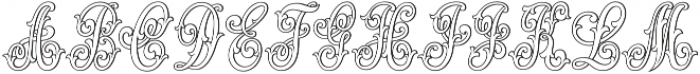 MFC Jewelers Monogram Regular otf (400) Font UPPERCASE
