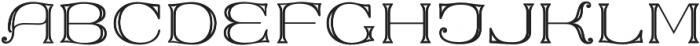 MFC Keating Monogram Stencil otf (400) Font UPPERCASE