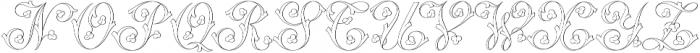 MFC Klaver Monogram Regular otf (400) Font UPPERCASE