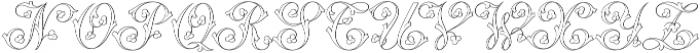 MFC Klaver Monogram Regular otf (400) Font LOWERCASE