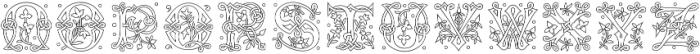 MFC Laroux Initials Regular otf (400) Font LOWERCASE