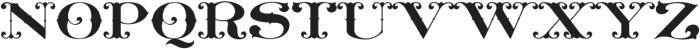 MFC Livermore Monogram Regular otf (400) Font UPPERCASE