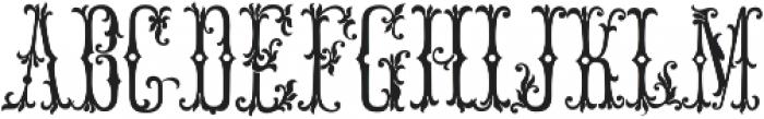MFC Manoir Monogram Basic Regular otf (400) Font UPPERCASE