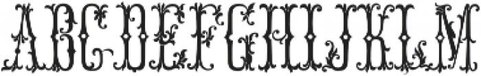 MFC Manoir Monogram Basic Regular otf (400) Font LOWERCASE