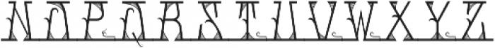 MFC Mastaba Solid Monogram Regular otf (400) Font UPPERCASE