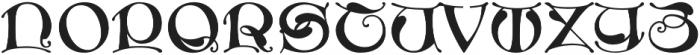 MFC Medieval Monogram Regular otf (400) Font UPPERCASE