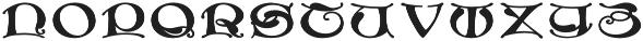 MFC Medieval Monogram Stack Regular otf (400) Font LOWERCASE