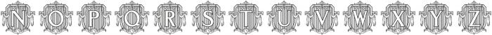 MFC Monarchy Initials Regular otf (400) Font LOWERCASE
