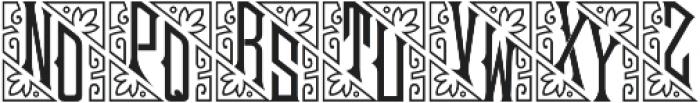 MFC Mouchoir Monogram Regular otf (400) Font UPPERCASE