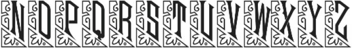 MFC Mouchoir Monogram Solid Regular otf (400) Font UPPERCASE
