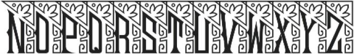 MFC Mouchoir Monogram Solid Regular otf (400) Font LOWERCASE
