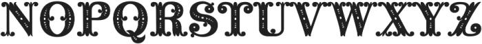 MFC Noir Monogram Regular otf (400) Font UPPERCASE