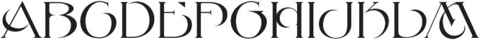 MFC Petworth Monogram Regular otf (400) Font UPPERCASE