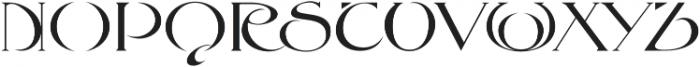 MFC Petworth Monogram Regular otf (400) Font LOWERCASE
