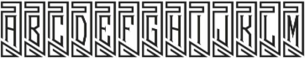 MFC Piege Monogram Regular otf (400) Font LOWERCASE