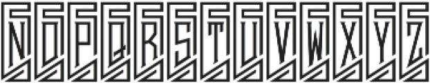 MFC Piege Monogram Un Regular otf (400) Font UPPERCASE