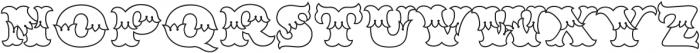 MFC Redding Monogram Clear otf (400) Font UPPERCASE