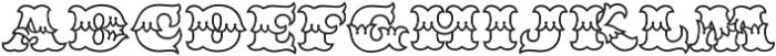 MFC Redding Monogram Clear otf (400) Font LOWERCASE